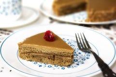 Kawowy czas z Kawowym tortem i filiżanką Obraz Royalty Free