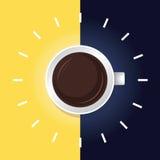 Kawowy czasu day&night ilustracja wektor