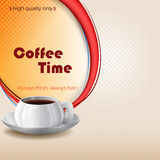 Kawowy czasu projekta tło z filiżanką kawy Zdjęcie Stock