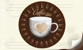 Kawowy czasu tło Obraz Royalty Free