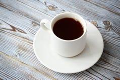 Kawowy czerń, apetyczny Napój od ranku fragrant kawa Obraz Royalty Free