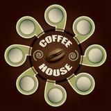 Kawowy dom z etykietkami dla teksta Zdjęcie Stock