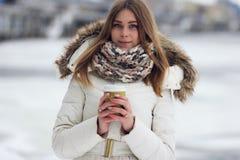 kawowy dziewczyny strzału studio Zdjęcia Stock