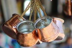 Kawowy garnek dla tureckiej kawy Zdjęcie Stock