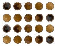Kawowy Halftone lub gradient Zdjęcia Stock
