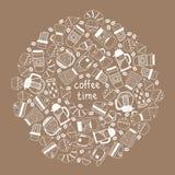 Kawowy herbaciany tło ilustracja wektor