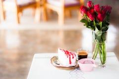 Kawowy i domowej roboty tort Obraz Stock