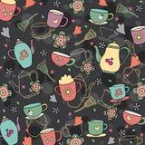 Kawowy i herbaciany tapetowy projekt Obraz Royalty Free
