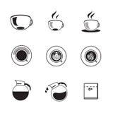 Kawowy ikona set Fotografia Stock