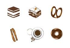 Kawowy ikona set Obrazy Royalty Free