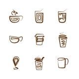 Kawowy ikona set Obraz Royalty Free