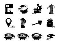Kawowy ikona set Fotografia Royalty Free