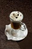 Kawowy koktajl z śmietanką Zdjęcia Royalty Free