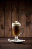 Kawowy koktajl z śmietanką Zdjęcie Royalty Free