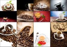 kawowy kolaż Zdjęcia Royalty Free