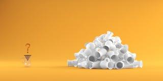 Kawowy kubek na tła 3D renderingu Zdjęcia Stock