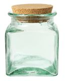 kawowy kukurudz szklany słój rozlewający stół Zdjęcie Royalty Free