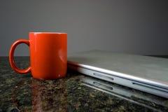 kawowy laptop Fotografia Stock