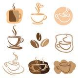 Kawowy loga projekta set Zdjęcie Royalty Free