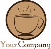 kawowy logo Zdjęcia Royalty Free