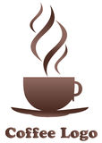 kawowy logo Obraz Stock