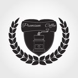 Kawowy logo Obraz Royalty Free