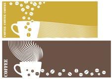 kawowy logo Obrazy Stock