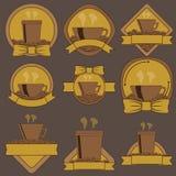 Kawowy logo Zdjęcie Royalty Free