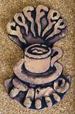 Kawowy logo kawy czas Fotografia Stock