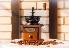 Kawowy młyn sepiowy Zdjęcia Stock