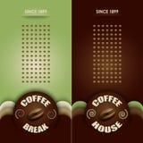 Kawowy menu (dwa wersi) Zdjęcia Stock
