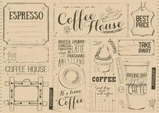 Kawowy menu Placemat royalty ilustracja