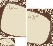 kawowy menu setu sklepu szablon Zdjęcie Royalty Free