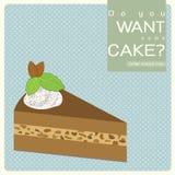 Kawowy migdału tort Fotografia Royalty Free