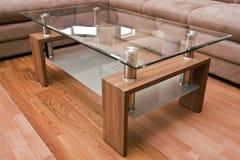 kawowy nowożytny stół Fotografia Royalty Free