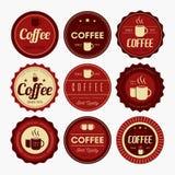 Kawowy odznaka projekt ilustracji