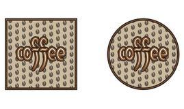 Kawowy okręgu kwadrat Zdjęcie Royalty Free