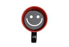 Kawowy ono Uśmiecha się Odizolowywam na Białym tle Fotografia Stock