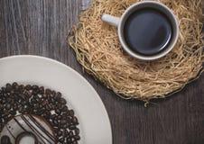 Kawowy pączek z kawą Zdjęcia Royalty Free