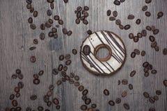 Kawowy pączek na stole Obraz Stock