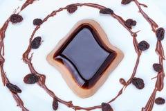 Kawowy panny cotta deser Zdjęcie Royalty Free