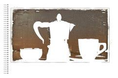 Kawowy plakat Obrazy Stock
