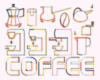 Kawowy plakat Zdjęcia Stock