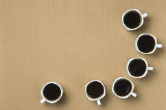 Kawowy przygotowywający napój przy biznesowym spotkaniem Zdjęcia Stock