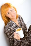 kawowy ranek Zdjęcia Royalty Free