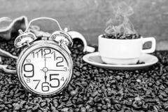 Kawowy ranku czas Fotografia Royalty Free