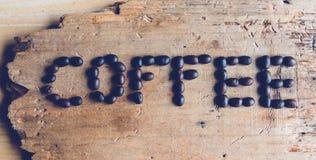 Kawowy słowo Zdjęcia Stock