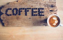 Kawowy słowo Zdjęcie Stock