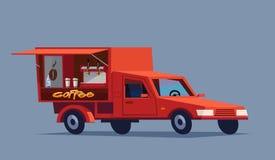 Kawowy samochód pije gorącą Obrazy Stock