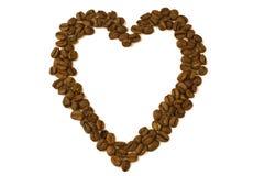 kawowy serce Zdjęcie Stock